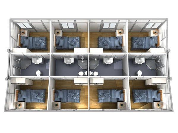 Prefab Buildings | Butterfly Modular Building W840
