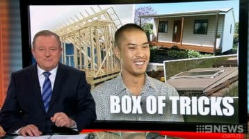 Channel 9 News Features iBuild Lekofly Flat Pack Homes