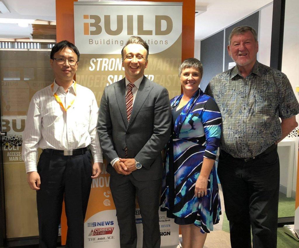 iBuild team with Monash Mayor Paul Klisaris