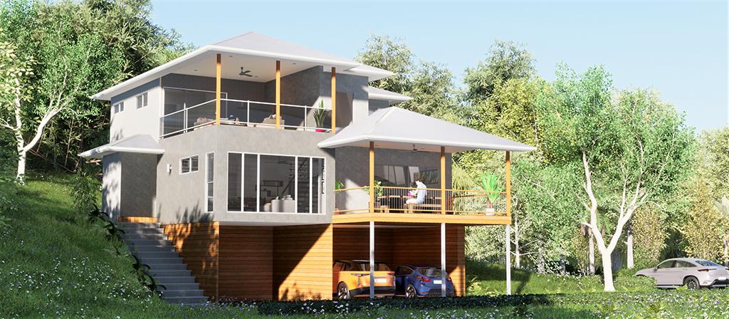 building concept design - hip roofing