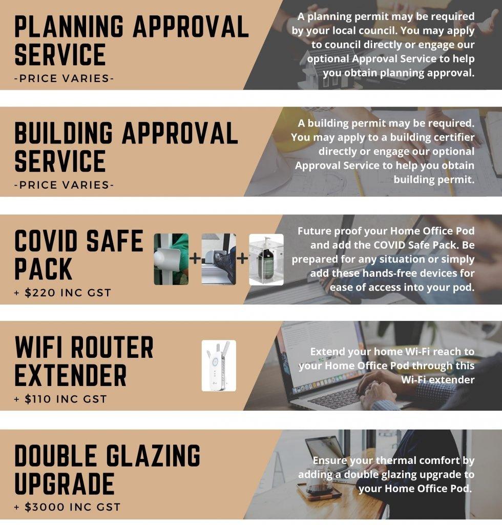 Home Office Pod Optional Packs